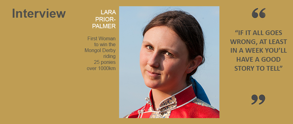 LARA PRIOR-PALMER Interview
